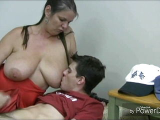 Hand Job With Busty Mommy For Young Bros