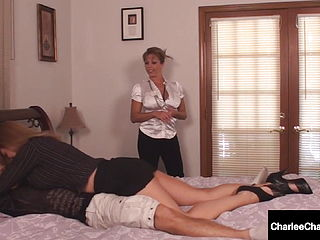 Milf Charlee Chase Amp; Amber Lynn Bach Suck Amp; Milk A Hard Cock
