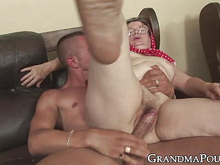 Nympho Granny Pussy Banged And Treated With Facial