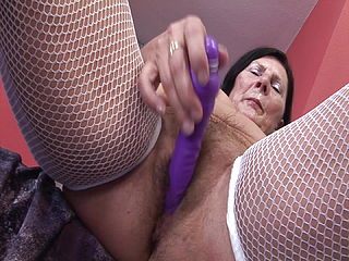 60 Grandma Enjoys Dildo And Young Man039;s Cock
