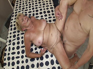 Horny Granny Fucked By Her Stepson
