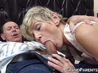 Young Redhead Facialized In FFM With Horny Older Couple