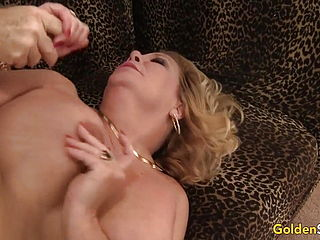 Blonde GILF Karen Summers Has Her Hairy Pussy Stuffed