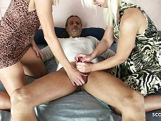 Two German Mature Like To Anal Ride Huge With Cock In 3some