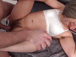 Hairy Housewives Nelly And Lorushka Sharing Big Cock