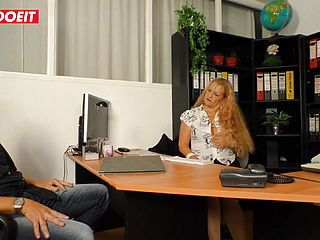LETSDOEIT - Risky Office Sex With Deutsche Horny Granny