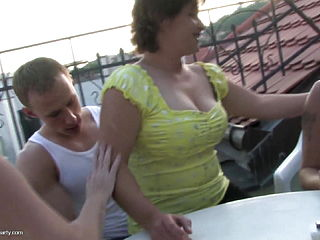 Mature Private Sex Party With 4 Moms And 1 Son