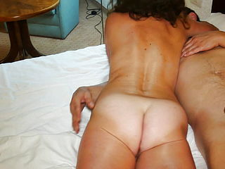 Cuckold Jerks On His Wife039;s Pussy Inseminated By Lover