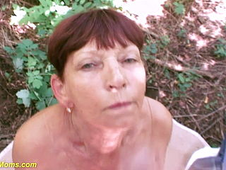 Ugly Hairy 81 Years Old Mom Rough Pov Banged In The Woods