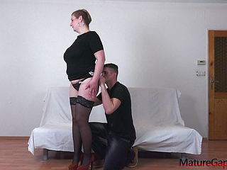 Big Busty Mature Woman039;s Pussy Gaping And Banging