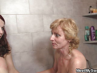 Old Family Threesome In The Bathroom