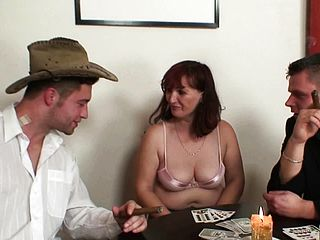 Hairy Mature Double Penetration After Poker