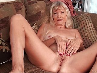 Skinny Grandmother Stroked