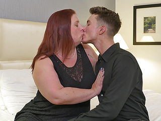 Mature BBW Mother In Bed With Teen Son