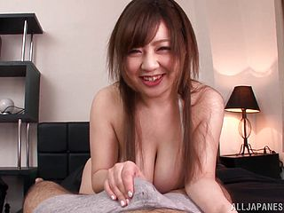 Nice Asian Mature With Big Mammories Getting Facial Cum