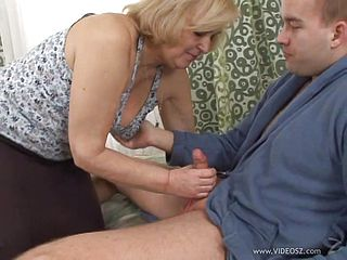 Blondie Grandma Is Penetrated Ditzy By A Rock-hard Cock