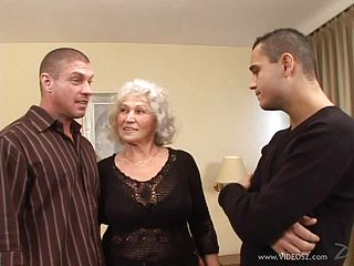 Big-chested Grandma Gets Pulverized By A Kinky Stud