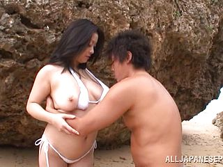 Delightful Mature Japanese Getting Banged In An Outdoor Action