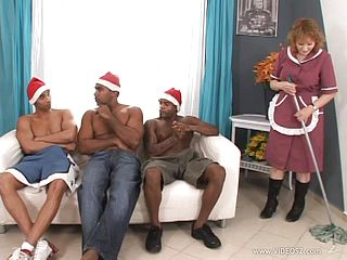 Super-naughty Grandma Is Group-fucked By Thick Ebony Cocks