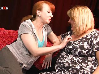 Mature Chicks Have A All Girl Sequence On Camera