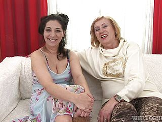 Mature Nymphs Make You Pop A Wood With A Lezzy Scene