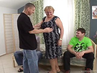 Mature Whore Is Gang-fucked By Insatiable Fellas