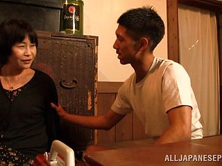 Wistful Mature First-timer Asian Delivering A Special Palm Job Then Gives A Bawdy Blowjob