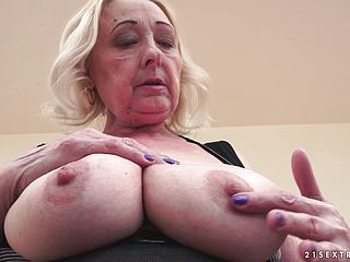 Sizzling Romp With A Kinky And Highly Big-titted Ash-blonde Granny