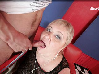 An Anal Creampie For A Giant Mature Blonde