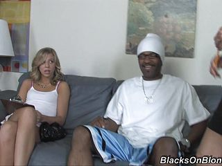 A Ebony Boy Takes On 2 Ultra-kinky Mature Blondes In Need Of Unspoiled Satisfaction