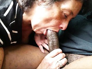 Penis Crazed Grandmother Providing Head To Her Amore