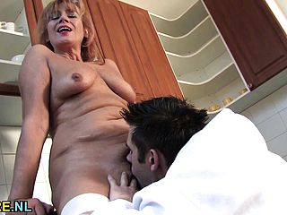Fur Covered Mature Damsel Gets Her Vagina Packed With Youthfull Cock