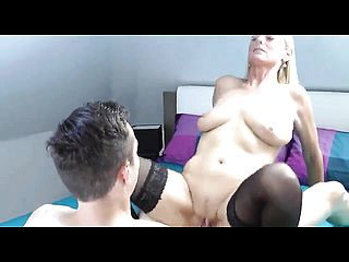 Luscious German Mother In Dark-hued Tights Gets Plowed By A Y