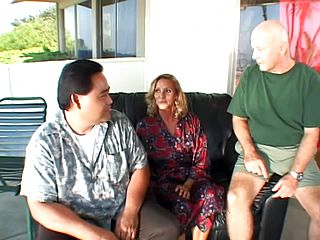 Mature Blondes Nailed While Her Cheating Boy Watches