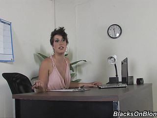 A Mature Office Assistant In Need Of Enjoyment Gets Naughty With One Of Her Clients