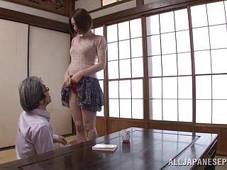 Smallish Titty Japanese Mature Gets Nailed For A Job