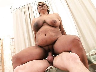 Enormous Latina Grandma Blows His Youthfull Bone Then Takes It In Her Plump Muffin