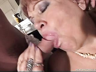 Horny Grandma Getting Nailed By 2 Youthfull Men In The Living Apartment