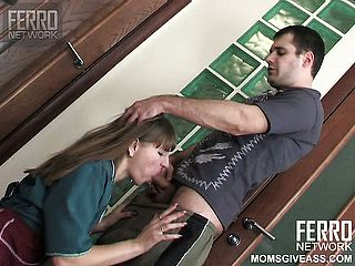 Kinky Housewife Madge Gives A Good Dt And Gets Her Peach Boinked Stiff From Behind