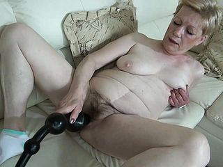 Mature Dame With Large Breasts Has A Humungous Dark Hued Fuck Stick Pumping Her Crevasse