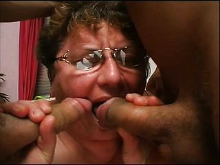 Brief Haired Mature Female With Thick Jugs Cathy Gets Plowed By 2 Boys