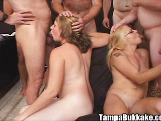 Deanna And Jill Supply Super Hot Oral Jobs And Share Their Passion For Mass Ejaculation