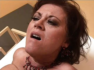 Horny Mature Domme Works Over Her Sub With Head And Getting Nailed