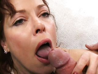 Mature Sandy Haired With Saggy Silicones Gets Pummeled In A Three Way
