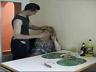 Plump Blondie Mummy Has One Of Her Sons In Law Buddies Drilling Her Sore Fuckbox