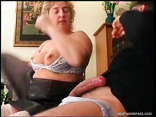 Plump Mature Light Haired Szandra Needs Patricks Thick Man Rod Tearing Up Her Pussy