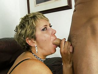Whorish Mature Blond Gags On His Knob And Takes It Up The Bootie