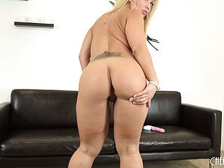 Austin Taylor Works Her Voluptuous Magic Using A Pair Of Fake Penises