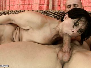 Horny Brown Haired Foolish Gets Her Mature Twat Tucked Rigid