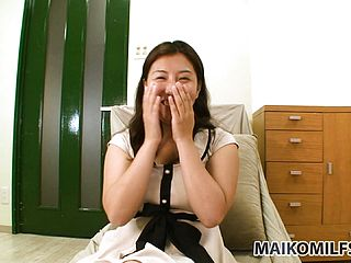 Japanese Housewife Does An Interview Before Flashing Off Her Bod
